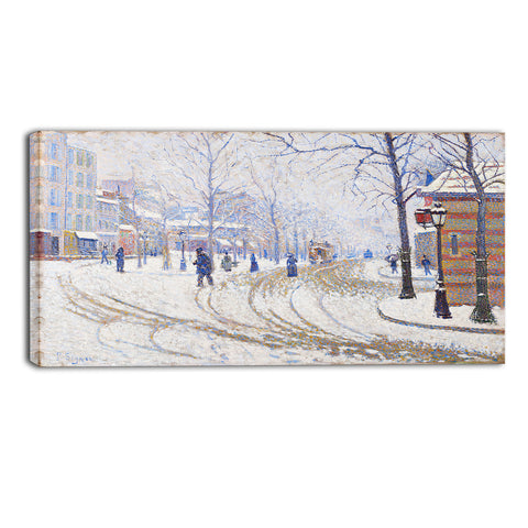 MasterPiece Painting - Paul Signac Snow, Boulevard de Clicy Paris