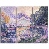MasterPiece Painting - Paul Signac The Tugboat, Canal in Samios