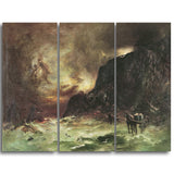 MasterPiece Painting - Petrus van der Velden Storm at Wellington Heads