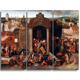 MasterPiece Painting - Pieter Bruegel Christ Driving the Traders from the Temple