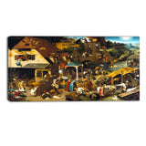 MasterPiece Painting - Pieter Bruegel The Dutch Proverbs