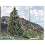 MasterPiece Painting - Rudolf von Alt The old Spruce in Bad Gastein