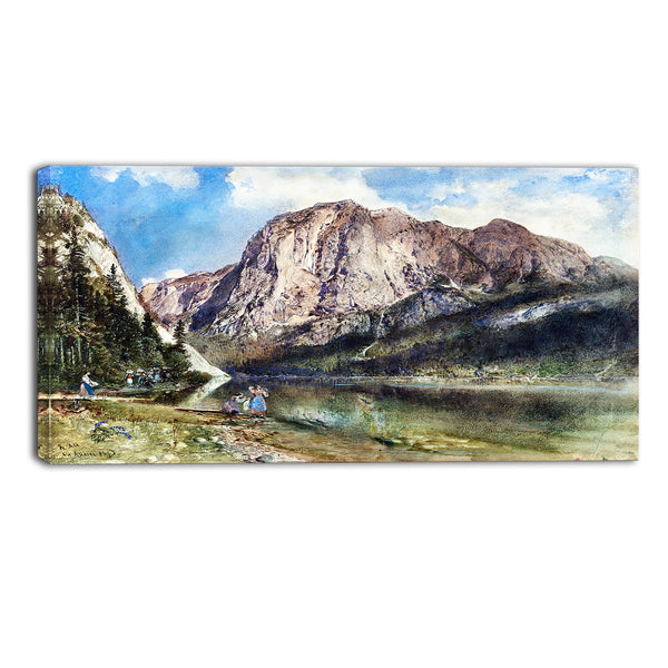 MasterPiece Painting - Rudolf von Alt Altaussee Lake and Face of Mount Trissel