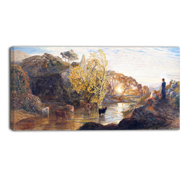 MasterPiece Painting - Samuel Palmer Tintern Abbey at Sunset