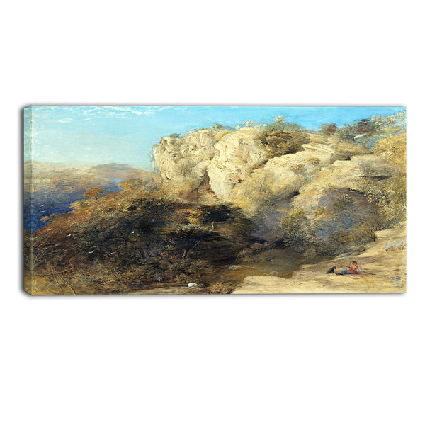 MasterPiece Painting - Samuel Palmer Rocky Landscape in Wales