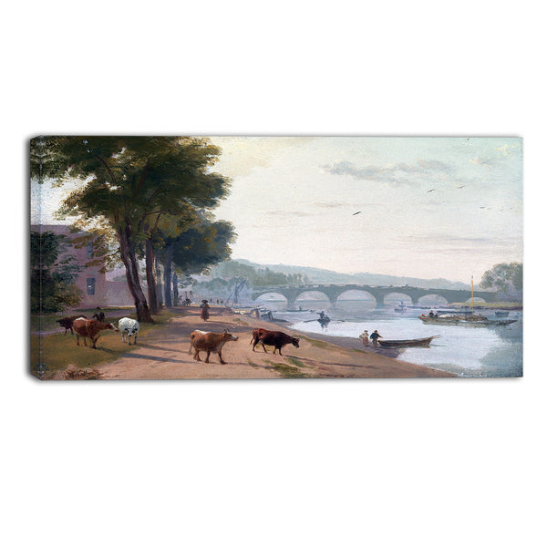 MasterPiece Painting - Sir Augustus Wall Callcott A View of Richmond Bridge