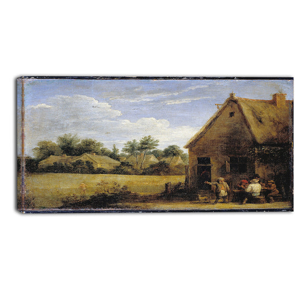 MasterPiece Painting - David Teniers Cottage with Peasants Playing Cards