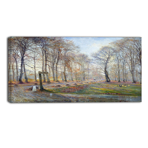 MasterPiece Painting - Theodor Philipsen Late Autumn Day in the Jaegersborg Deer Park