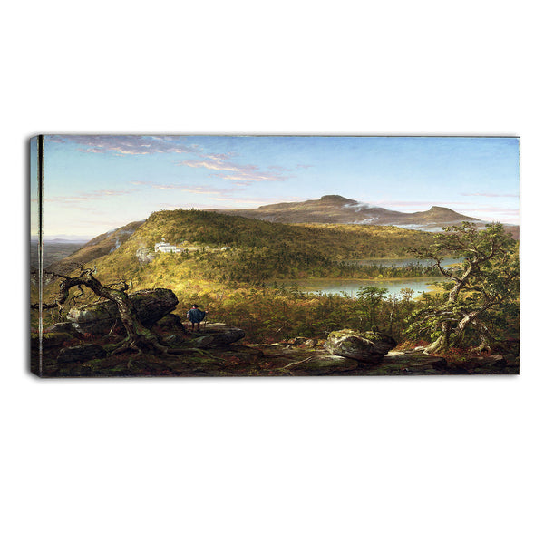 MasterPiece Painting - Thomas Cole A view of the Two Lakes and Mountain House