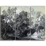 MasterPiece Painting - Thomas Gainsborouh Wooded Landscape with Figures