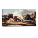 MasterPiece Painting - Thomas Gainsborouh Landscape with cottage and church