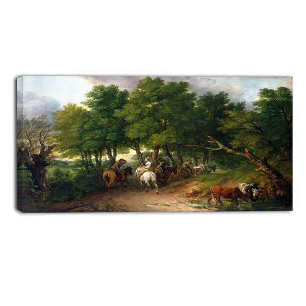 MasterPiece Painting - Thomas Gainsborouh Road from Market