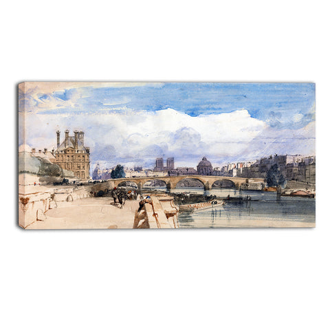 MasterPiece Painting - Thomas Shotter Boys Le Pont Royal, Paris