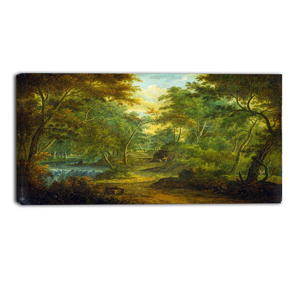 MasterPiece Painting - Thomas Smith of Derby A Wooded Landscape with a Stream