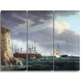 MasterPiece Painting - Thomas Whitcombe A Ship Running Into Harbour