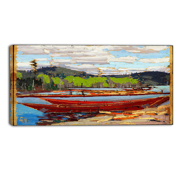MasterPiece Painting - Tom Thomson Bateaux