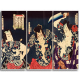 MasterPiece Painting - Toyohara Kunichika The kabuki actors