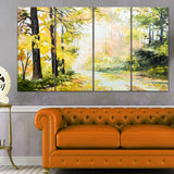 road in colorful forest landscape canvas artwork PT6007