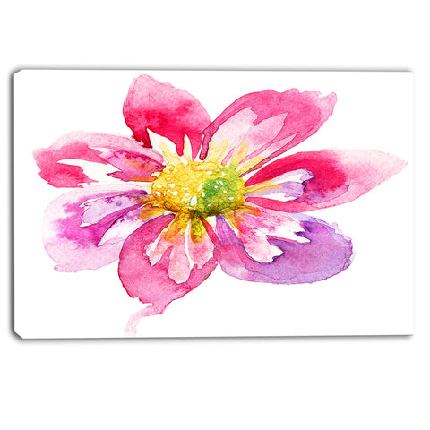 full bloom pink flower floral canvas artwork PT6012