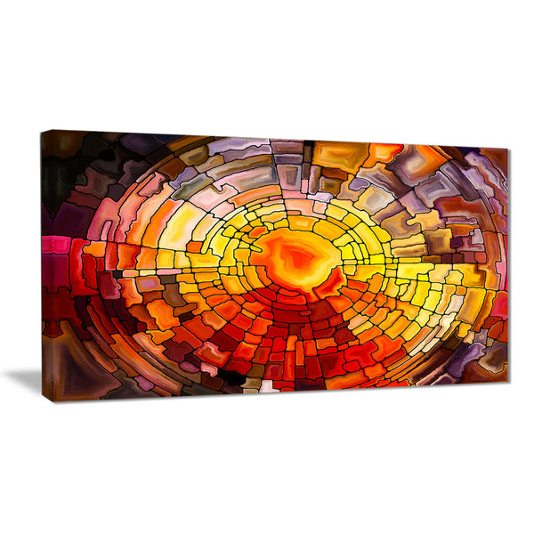 return of stained glass contemporary canvas print PT6014
