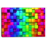 rainbow of colorful boxes abstract canvas artwork PT6019