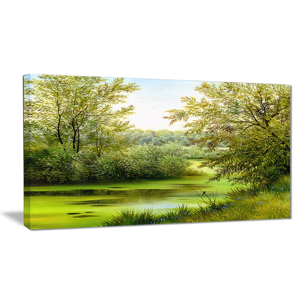 green summer landscape canvas wall art print PT6025