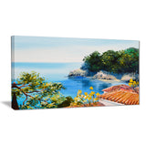 house near the sea landscape canvas artwork PT6026