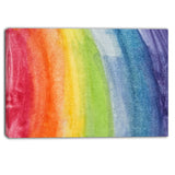 flowing rainbow colors abstract canvas artwork PT6031