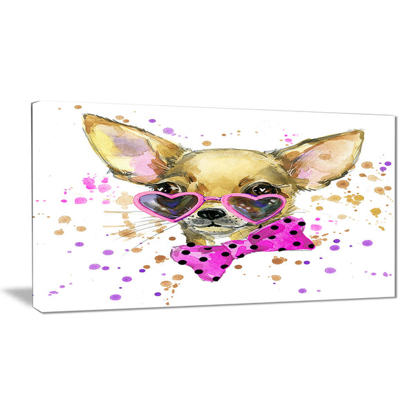 puppy dog in watercolor animal canvas artwork PT6035