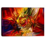 illusions of stained glass abstract canvas artwork PT6041