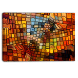 dreaming of stained glass abstract canvas artwork PT6043
