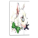 bull terrier dog animal canvas artwork PT6053