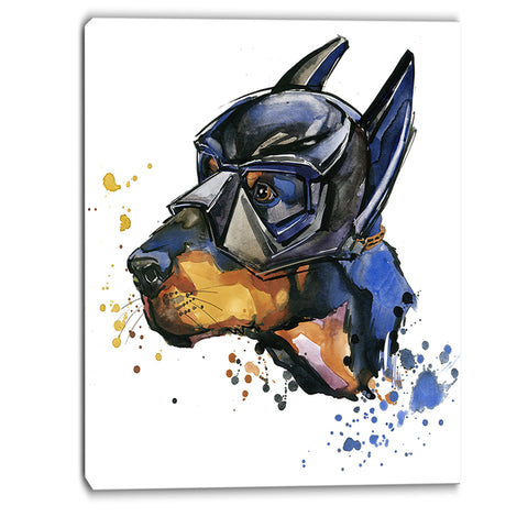 doberman superman animal canvas artwork PT6055