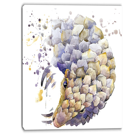 armadillo illustration art animal canvas artwork PT6071