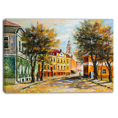ancient vitebsk in autumn landscape canvas artwork PT6082