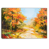 path in autumn forest landscape canvas artwork PT6092