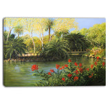 garden of eden landscape large canvas print PT6093