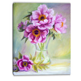 purple peonies in vase floral canvas artwork PT6098