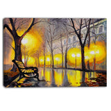 emPTy autumn street landscape canvas artwork PT6099