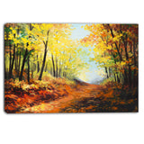 autumn forest pathway landscape canvas wall art print PT6101