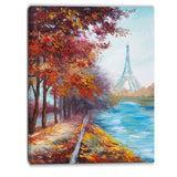 eiffel tower view in fall landscape canvas artwork PT6103