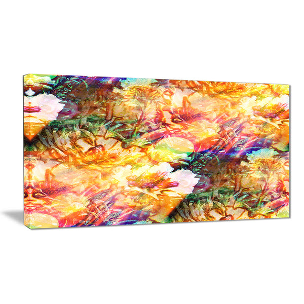 bokeh flowers seamless floral canvas artwork PT6107