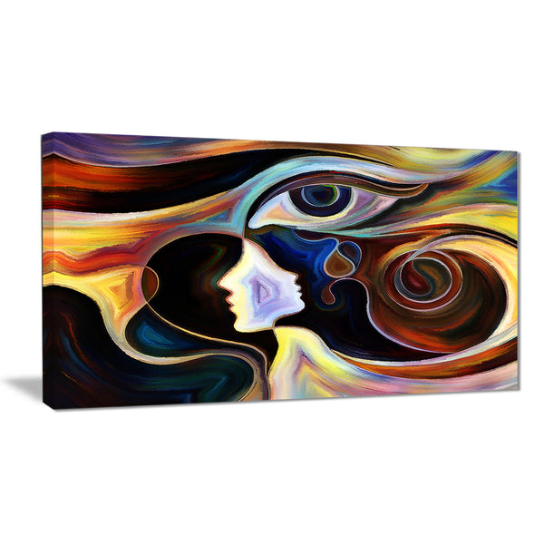 colorful intuition abstract canvas print PT6115