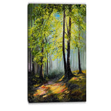 green autumn forest landscape canvas art print PT6116