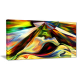 Origin of Imagination Abstract Canvas Art Print