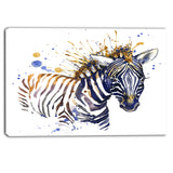 little zebra illustration art animal canvas art print PT6126