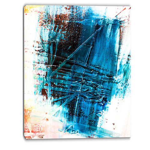 abstract blue structure art abstract canvas art print PT6129