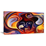 waves of thought abstract large canvas art print PT6141