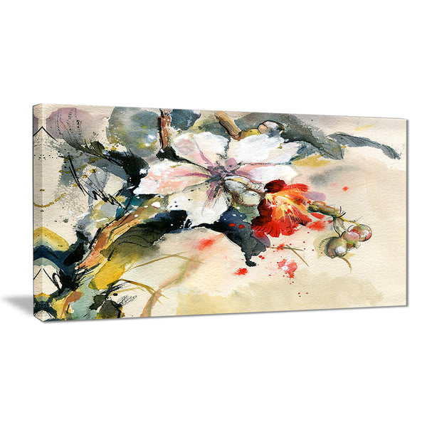 orchid in bloom floral canvas artwork PT6144