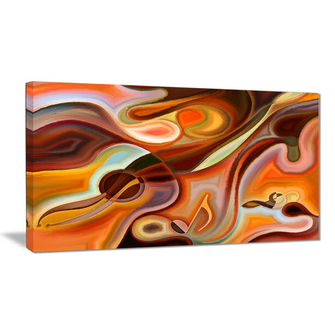 Music Dreams Abstract Canvas Art Print